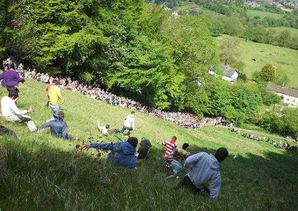 Cheese Rolling Festival. Photo by Dave Farrance. License: CC BY-SA 3.0.